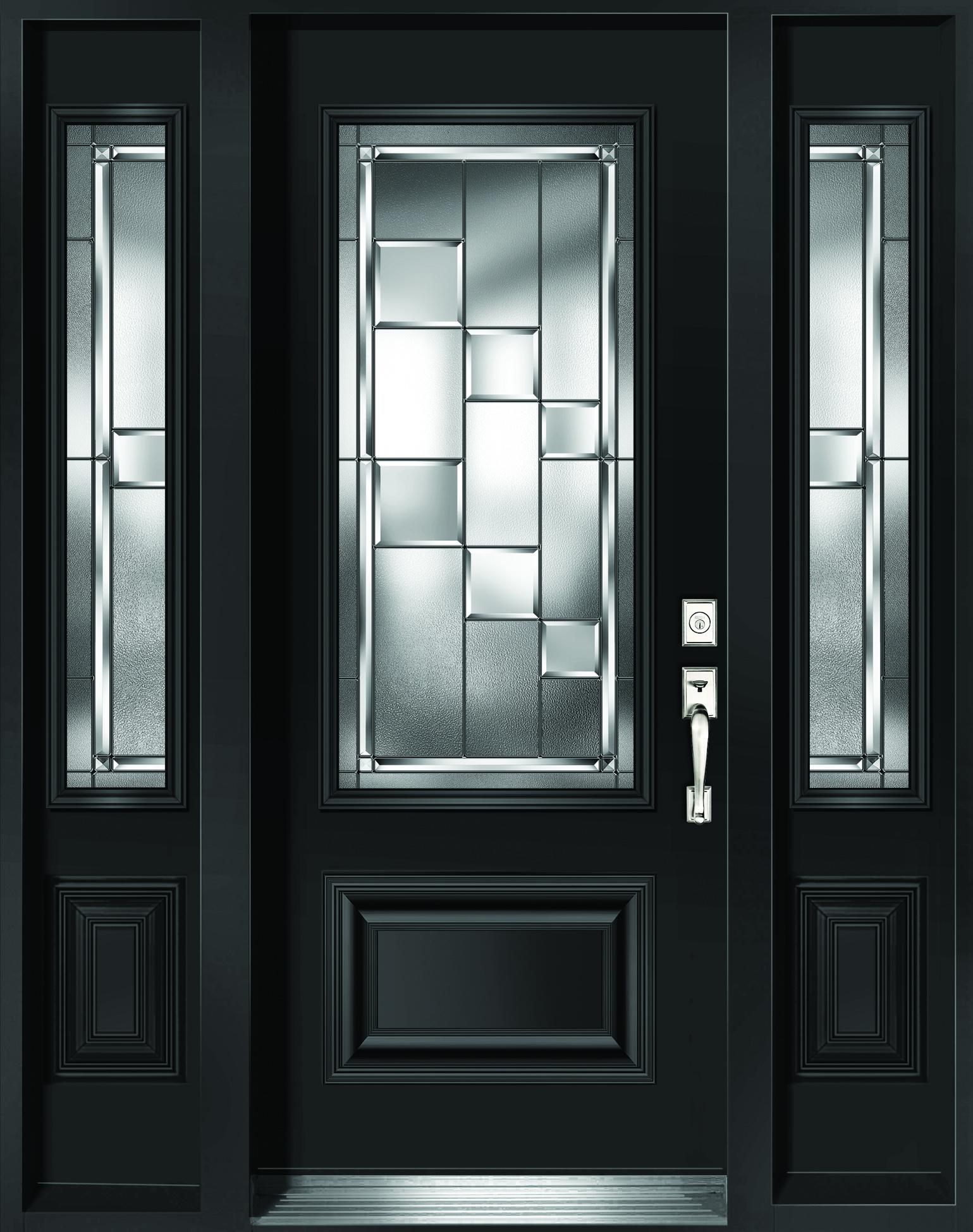 portes en acier. Black Bedroom Furniture Sets. Home Design Ideas