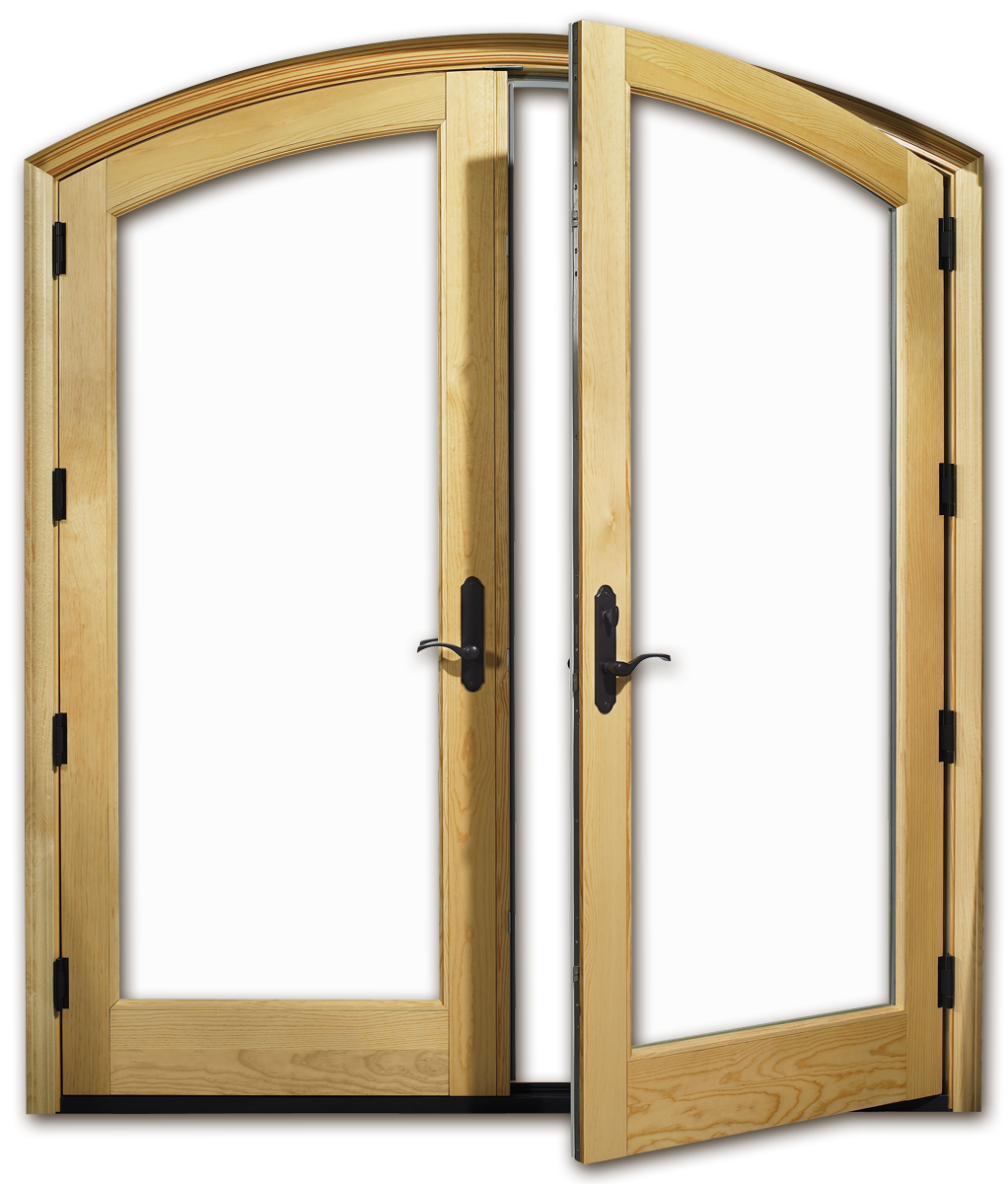 Wood and aluminum doors for Patio entrance doors